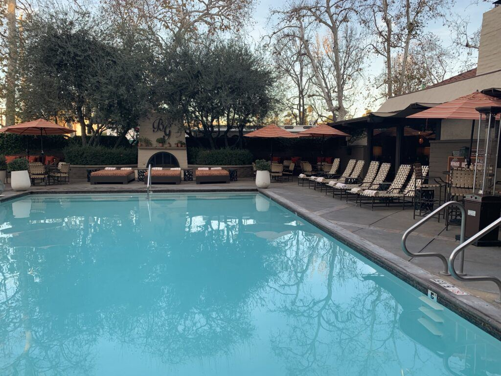 The pool at the Garland Hotel in LA